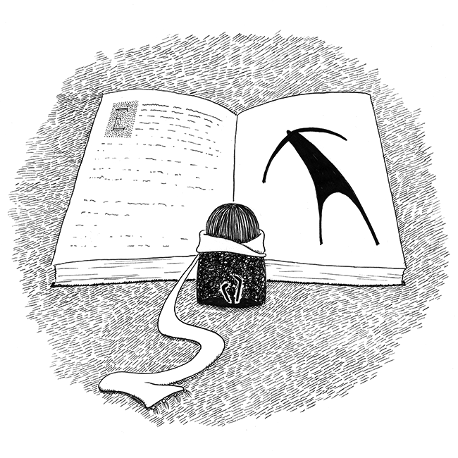 The girl liked to read fairy tales in heavy, dusty books - Odd Friends by Kira Bang-Olsson