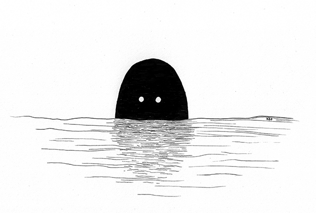 There are things in the water - Odd Friends by Kira Bang-Olsson